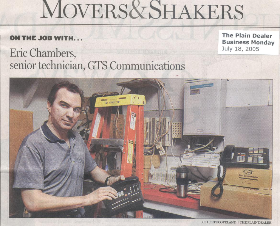 Eric Chambers of GTS in the Plain Dealer