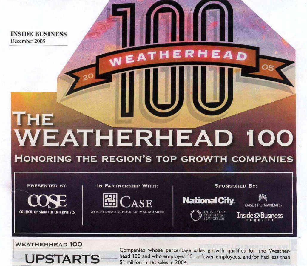Inside Business Weatherhead 100 Award article featuring GTS