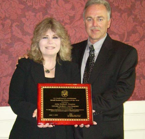 Jerry and Victoria Stallard with their SBA Award