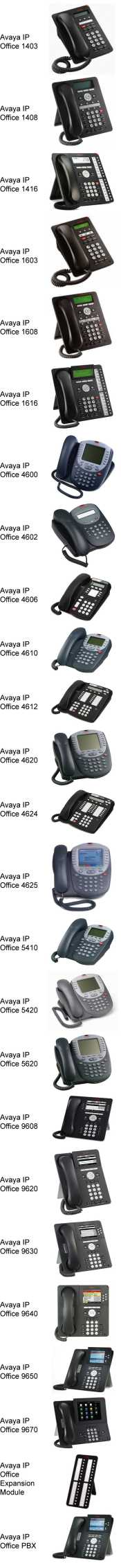 GTS Avaya IP Office Phone Collection