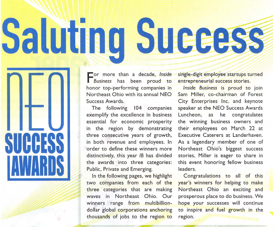 NEP Success Awards Saluting Success