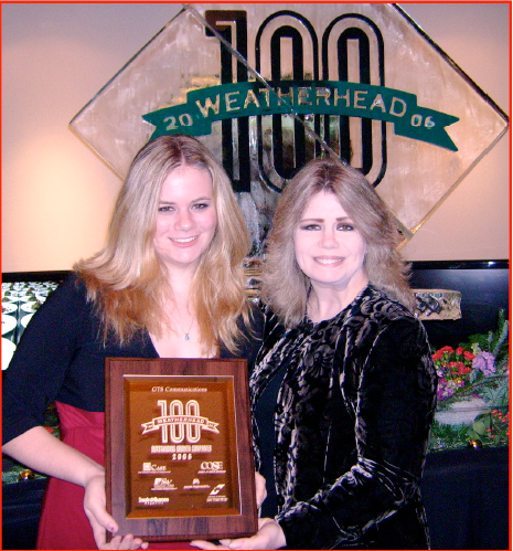 Victoria and Kelli accepting the Weatherhead 100 Award